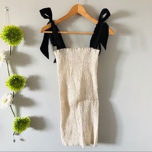 ZARA   Ruched dress with straps
